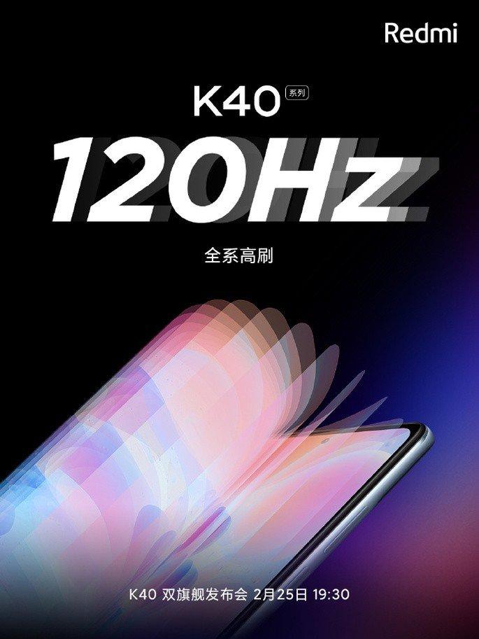 Redmi K40 Pro dá o salto para os 120Hz