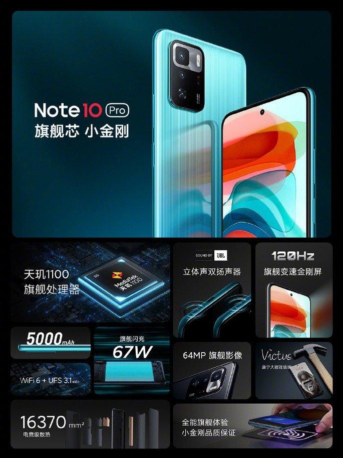 Principais características do Redmi Note 10 Pro 5G