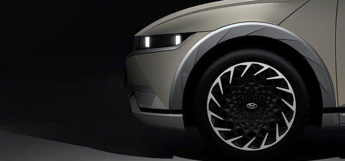 Design lateral do Hyundai Ioniq 5
