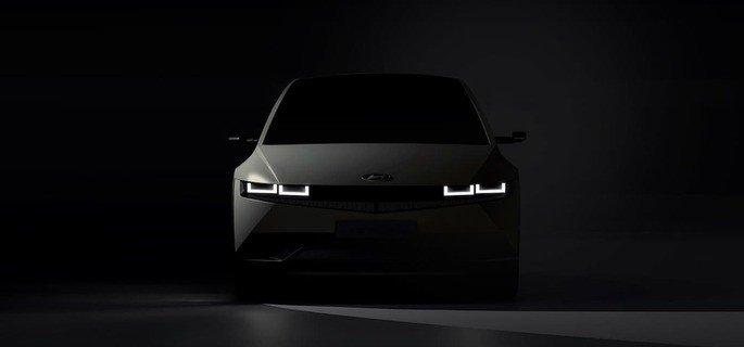 Design frontal do Hyundai Ioniq 5