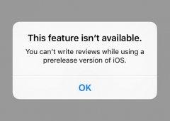 Utilizadores BETA iOs deixam de conseguir escrever reviews de aplicações