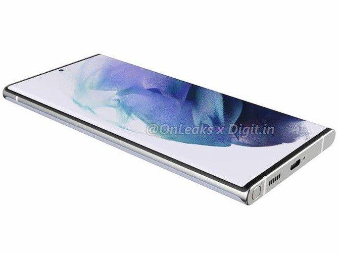 Renderizações do Samsung Galaxy S22 Ultra. Crédito: OnLeaks/Digit