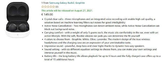Amazon Samsung Galaxy Buds 2