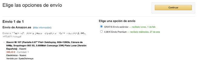 Amazon Portugal envios