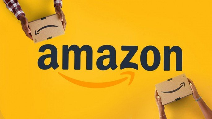 Amazon logo yellow background