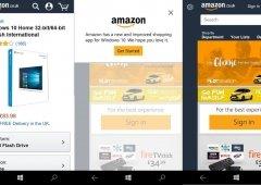 A nova aplicação da Amazon para Windows 10 também se pode usar no Mobile