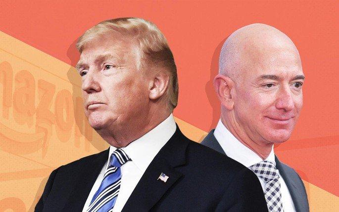 Amazon Donald Trump Jeff Bezos