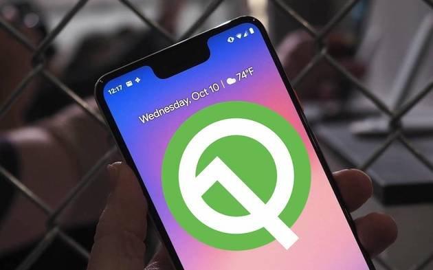 Android Q smartphones a receber