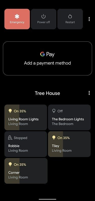 Android 11 menu
