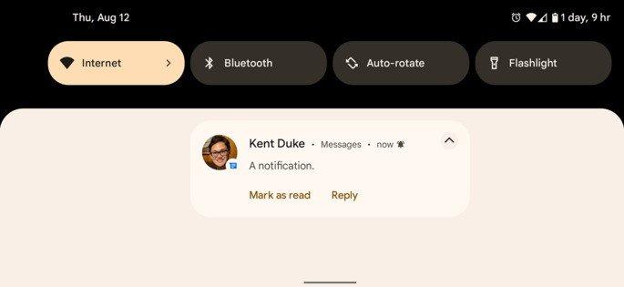Android 12 notiifcações