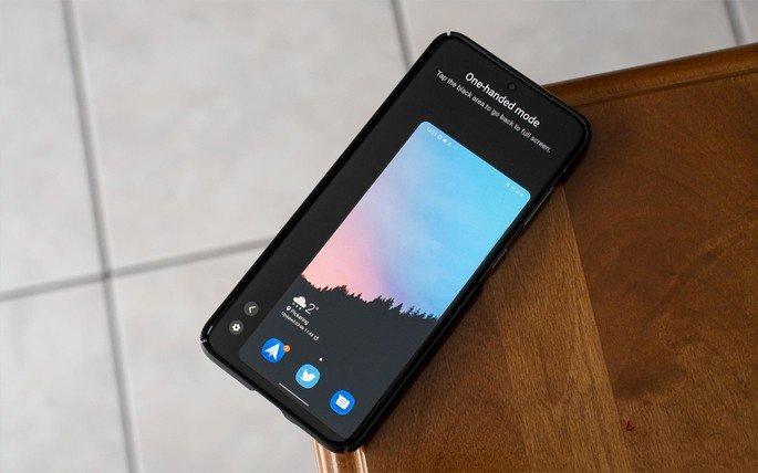 Android 12 modo de uma mão