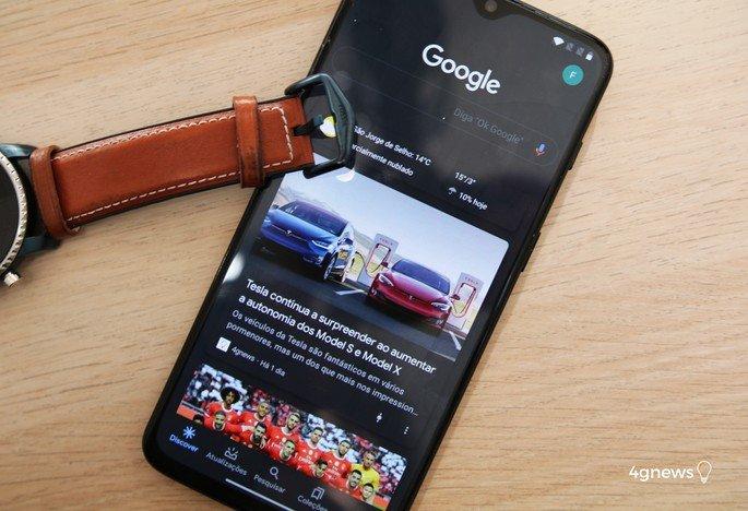Aplicação Google Dark Mode
