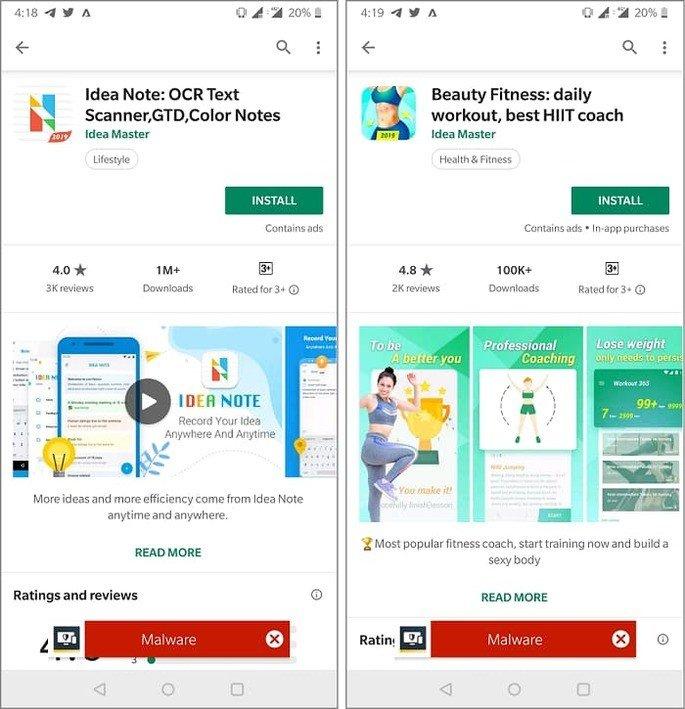 Aplicações afetadas no teu smartphone na Google Play Store