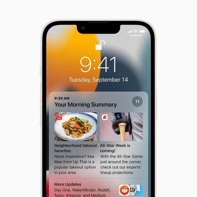 iOS 15 notificacoes