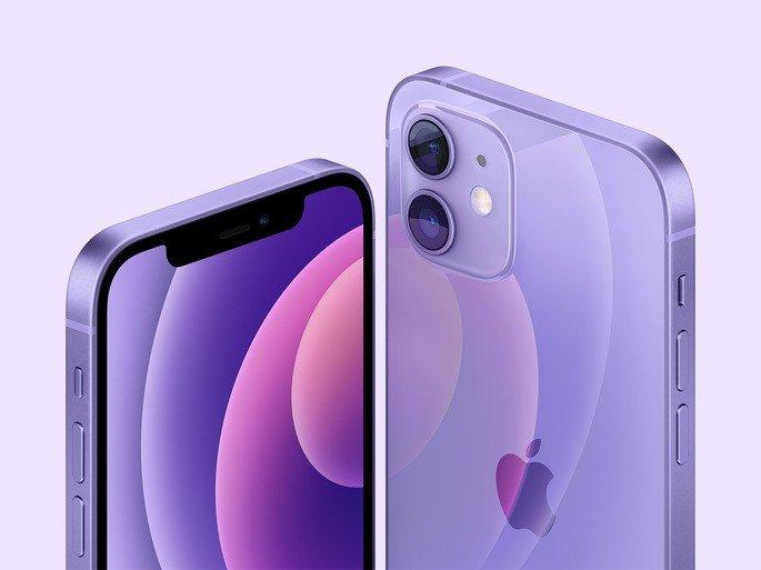 iPhone 12 em roxo