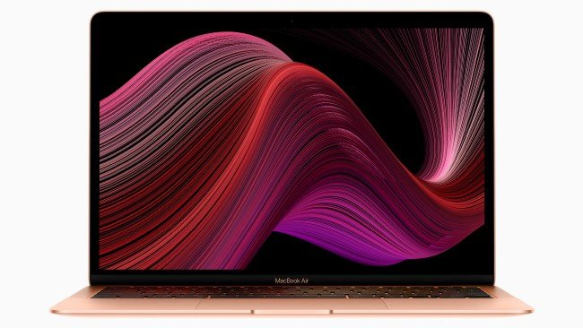 golden Apple MacBook Air notebook computer