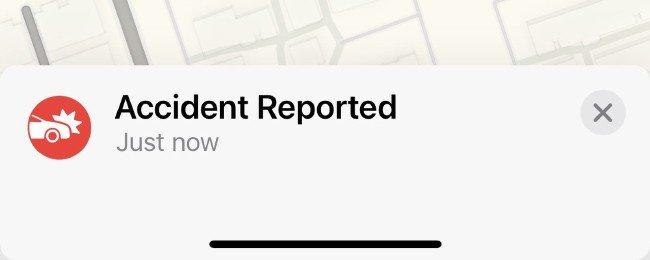 Acidentes Apple Maps