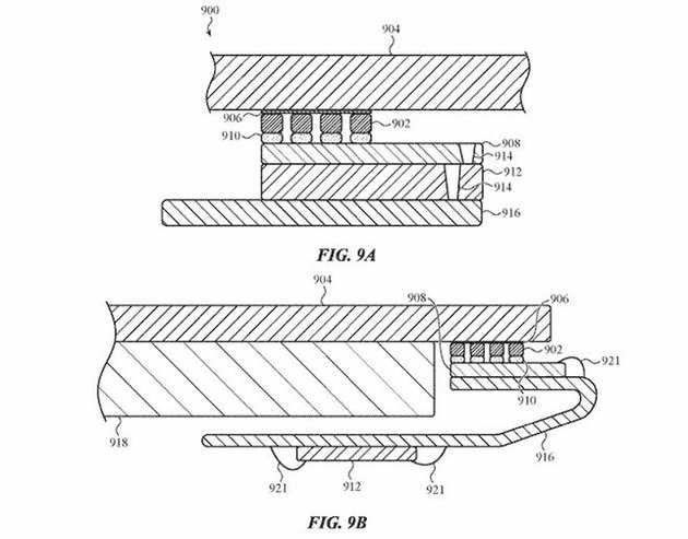 apple touch id acústico patente