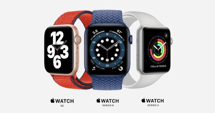 Gama Apple Watch Series 6 e Apple Watch SE