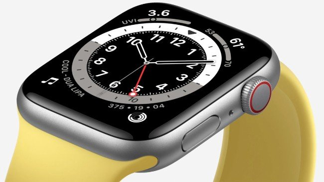 Apple Watch SE amarelo
