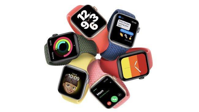 Apple Watch SE em várias cores