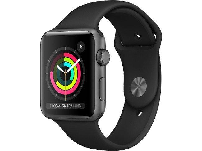 Apple Watch Series 3 42 mm em preto
