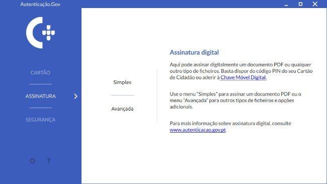 Aplicação autenticação.GOV