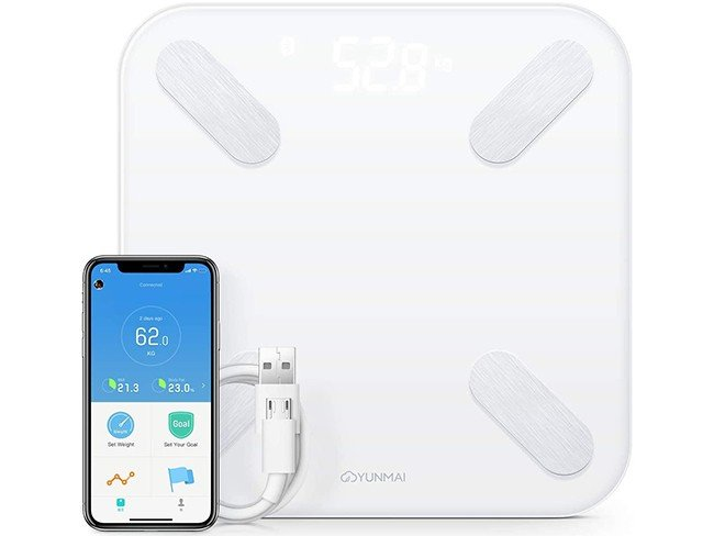 Balança Inteligente Yunmai com ligação Bluetooth