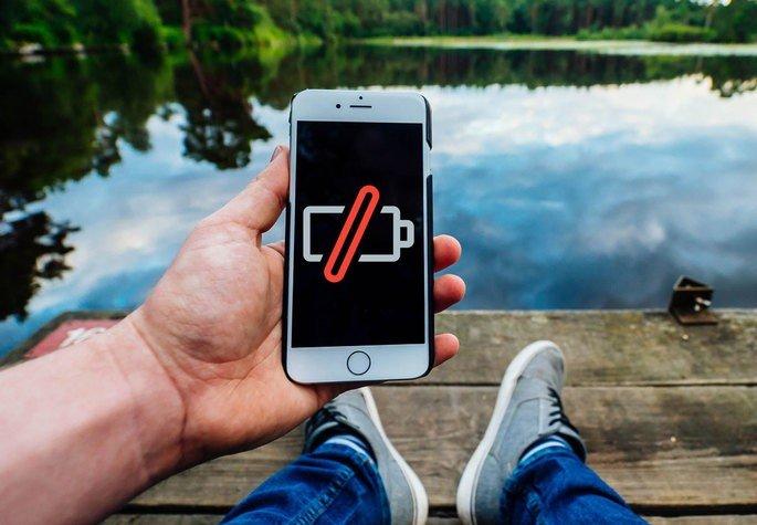 Bateria num smartphone para 5 dias