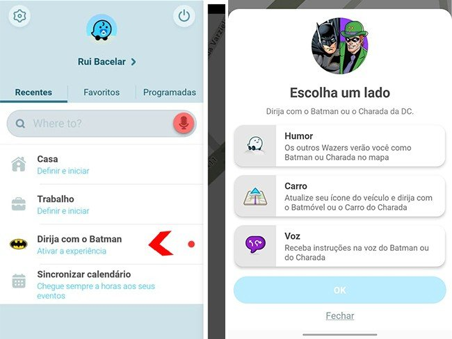 Ativar vozes do Batman ou Enigma no Waze