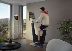 Bicicleta gaming: pedala enquanto jogas nesta bicicleta estática
