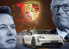 """Bill Gates deixa Elon Musk """"amuado"""" ao comprar o Porsche Taycan e não um Tesla!"""