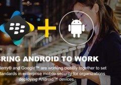 BlackBerry celebra parceria oficial com a Google e o OS Android