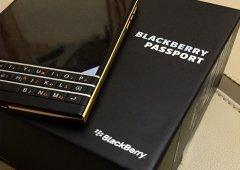 BlackBerry Passport versão Dourada