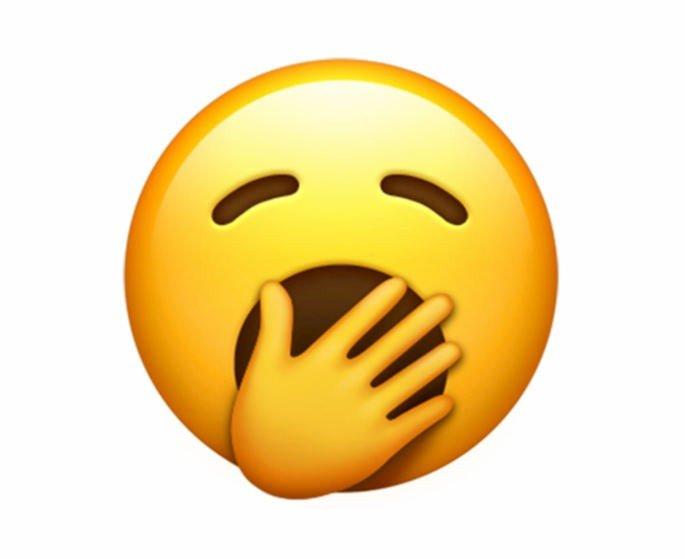 emoji bocejar