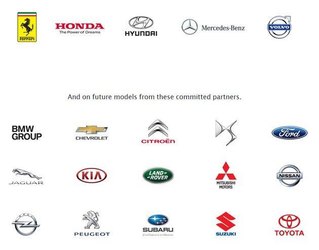 marcas carros android auto