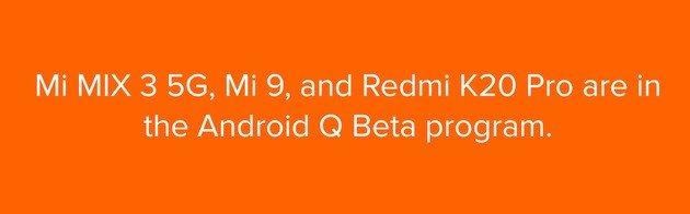 redmi k20 pro android q beta