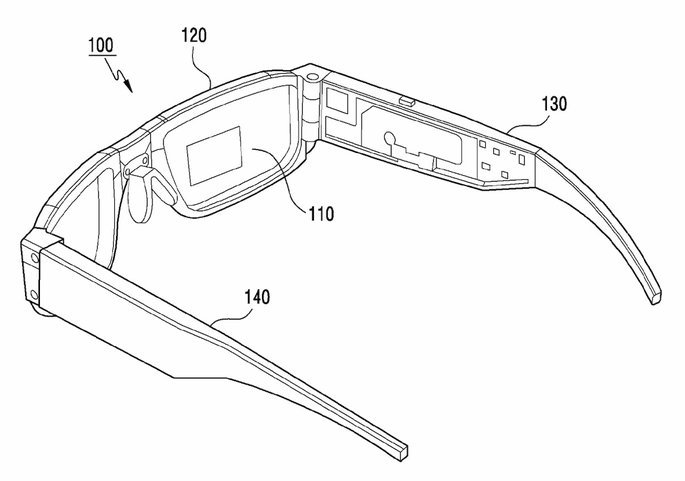 samsung óculos inteligentes smart glasses conceito patente