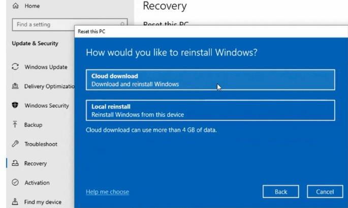 microsoft windows 10 reinstalar download cloud