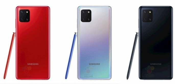 Renders do Samsung Galaxy Note 10 Lite. Crédito: WinFuture