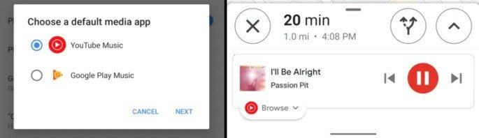 Youtube Music integrado no Google Maps