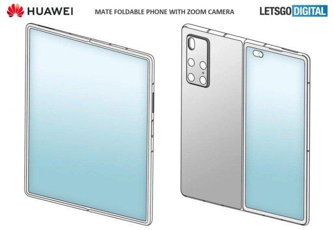 Patente da Huawei desenhada pelo LetsGoDigital