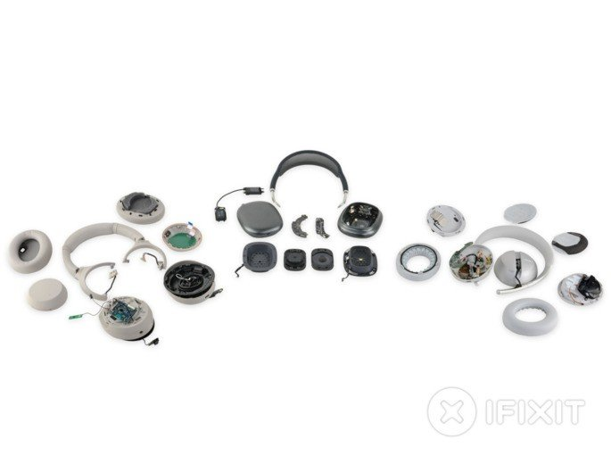 Apple AirPods Max. Crédito: iFixit