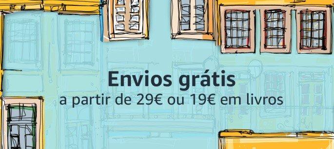 Amazon oferece portes grátis acima de 29 €
