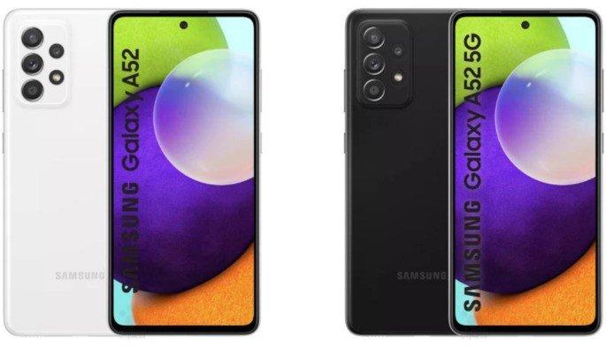 Estes são os Samsung Galaxy A52 e Galaxy A52 5G