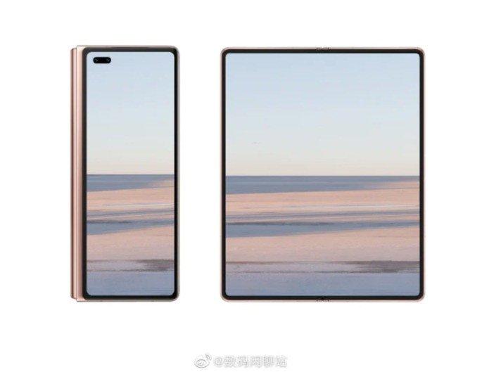 Render não-oficial do Huawei Mate X2. Crédito: Digital Chat Station