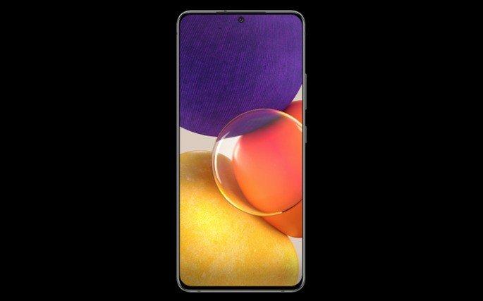 Provável design do Samsung Galaxy A82
