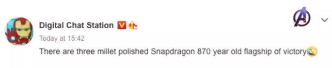 Digital Chat Station garante três novos smartphones com Snapdragon 870 da Xiaomi
