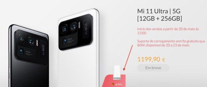 Xiaomi oferece carregador sem fios de 80W a quem comprar o Mi 11 Ultra na Alemanha