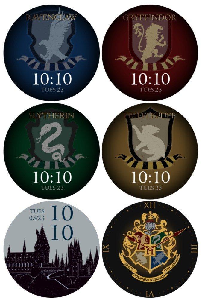 Watchfaces exclusivas da versão de Harry Potter do OnePlus Watch. Crédio: Oxygen